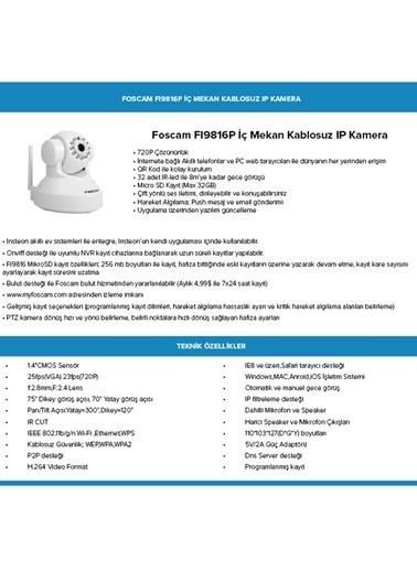 Insteon Fı9816P İç Mekan 720P, Bulut Desteği, Çift Yönlü Ses İletimi, Gece Görüşü, Kablosuz Ip Kamera Renkli